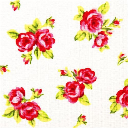 White Michael Miller Fabric With Many Small Flowers 2