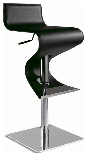 Chintaly Pneumatic Gas Lift Adjustable Height Swivel Stool contemporary bar stools and