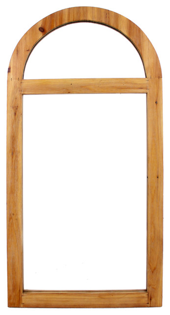 Homeroots Decor, Rustic Dressing Mirror With Minimalist Wooden Window Frame