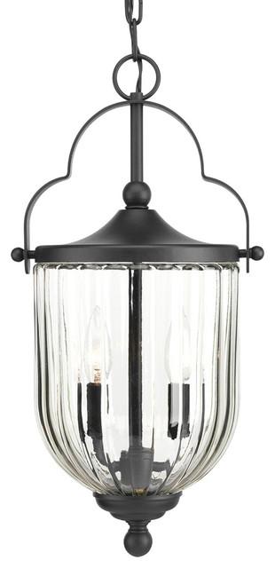 Mcpherson 3-Light Outdoor Pendants/chandeliers, Black.