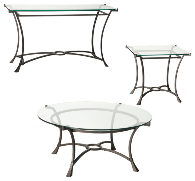 3 piece round coffee table set