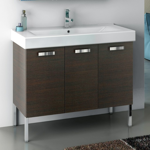 40 bathroom vanity cabinet 40 inch vanity cabinet with fitted sink contemporary 10252