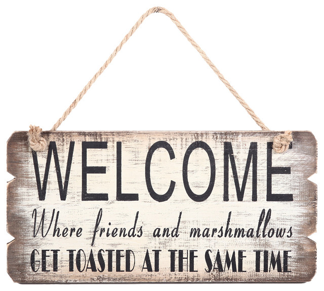 Wood Antique Welcome Sign.