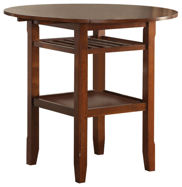 Acme Tartys Counter Height Table, Cherry.