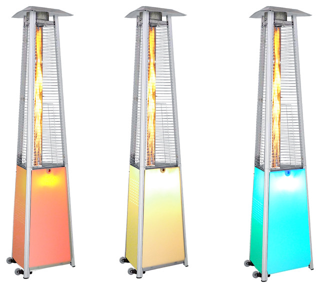 sunheat 12 color led light show portable propane patio heater