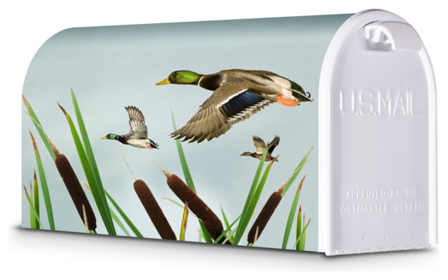 decorative mailbox mallard ducks in flight rustic mailboxes - Decorative Mailboxes