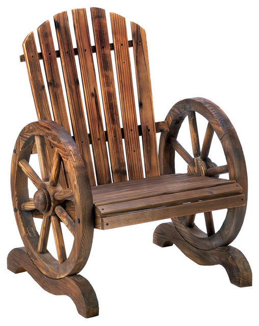 Wagon Wheel Adirondack Chair Farmhouse Adirondack Chairs