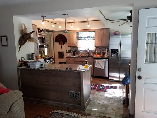 Open Concept Kitchen Rustic Cleveland By Highest Integrity Services Inc
