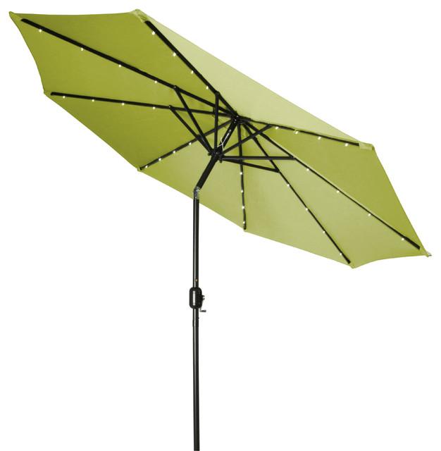 powered led lighted patio umbrella 10 39 outdoor umbrellas houzz. Black Bedroom Furniture Sets. Home Design Ideas
