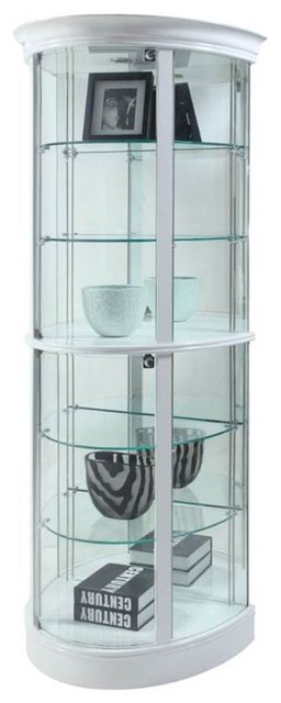 Semi Circle Tempered Glass-Shelf Curio - Contemporary - China Cabinets ...
