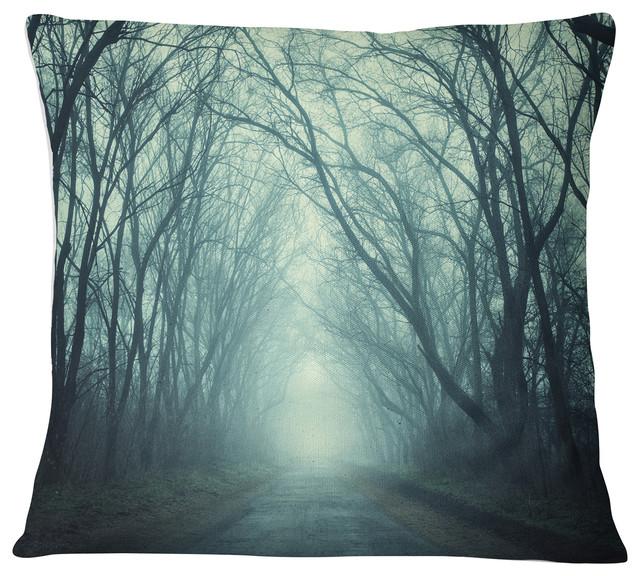 Fine Scary Forest With Green Light Landscape Photography Throw Pillow 26X26 Inzonedesignstudio Interior Chair Design Inzonedesignstudiocom
