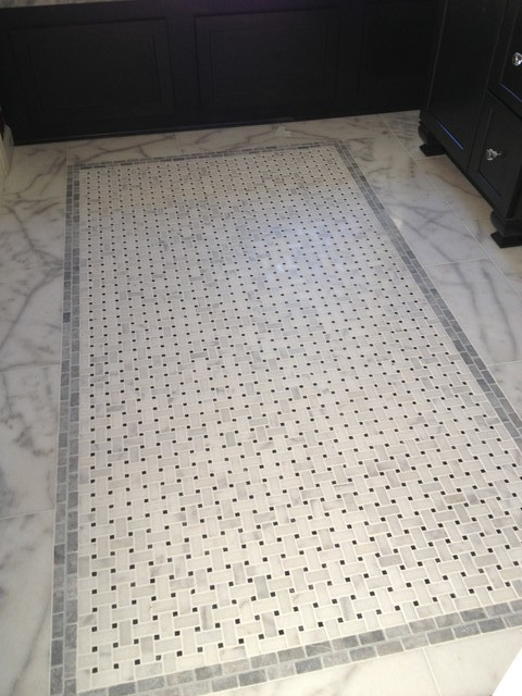 natural stone basketweave tile any problems i vacuum it with a hard floor attachment and have spot cleaned a few places weu0027ve been using the bathroom