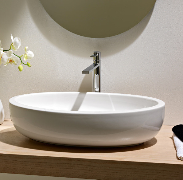 Beautiful Bathrooms Houzz: Beautiful Oval Above Counter Vessel Bathroom Sink By