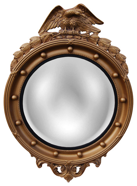 Convex Wall Mirror regency eagle convex mirror - traditional - wall mirrors -cpi