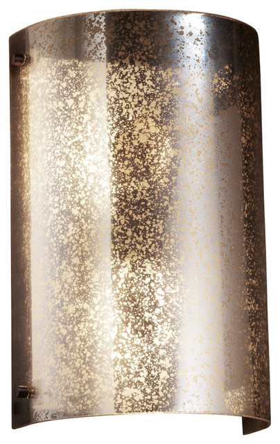 Polished Chrome Finish LED Round Flared Artisan Glass Shade in Weave Fusion Era 1-Light Wall Sconce