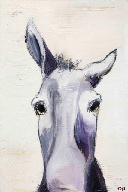 """donkey"" Painting Print On Canvas By Tori Campisi."