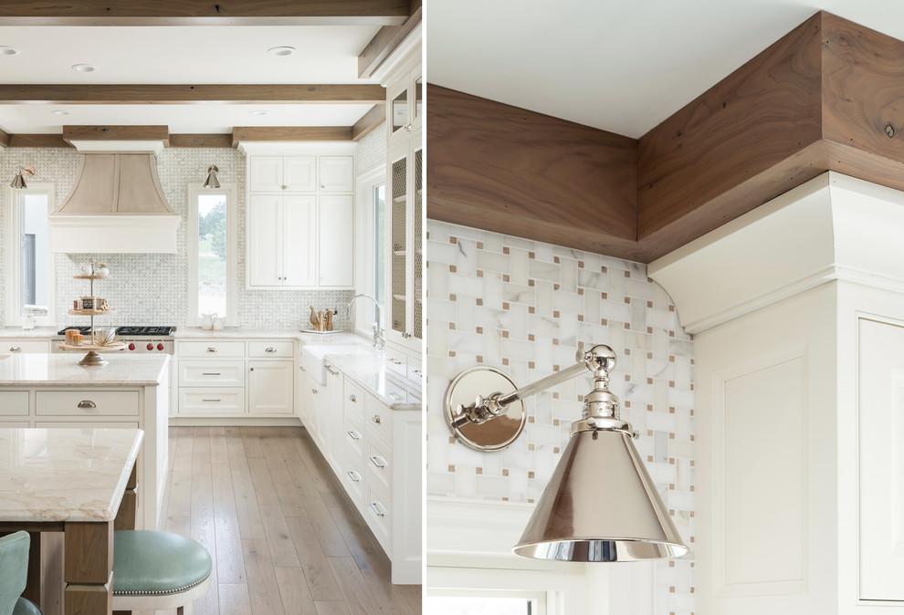 Inspiration for a transitional home design remodel in Denver