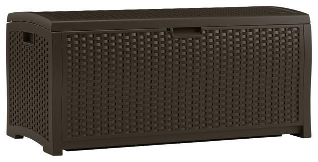73 Gallon Resin Deck Box Contemporary Deck Boxes And