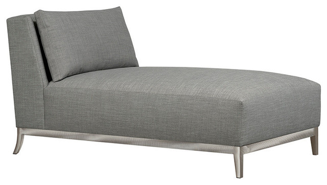 Barton Boxed Back Chaise, Silver.