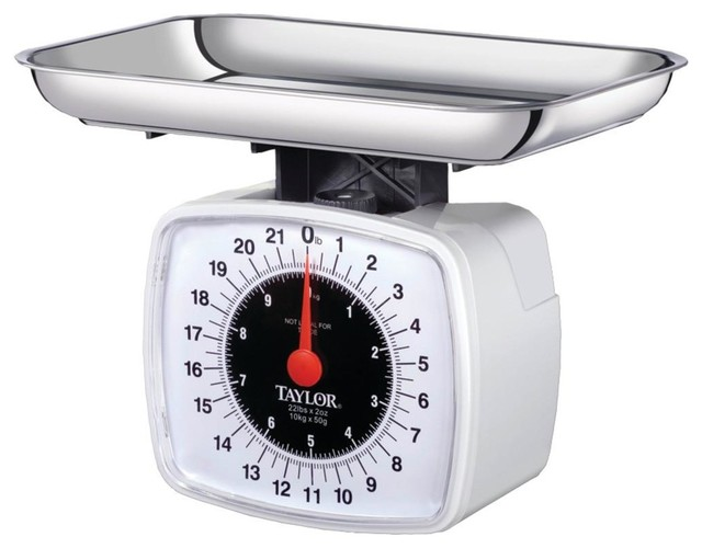 Taylor Kitchen And Food Scale, 22 Lbs Contemporary Kitchen Scales