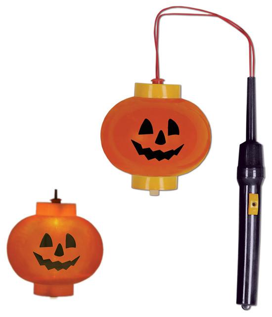 4 Party Decorations Pumpkin Lanterns, Set Of 12.