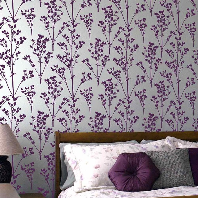 Sprigs Allover Stencil Pattern Floral Wall Patterns Better Than