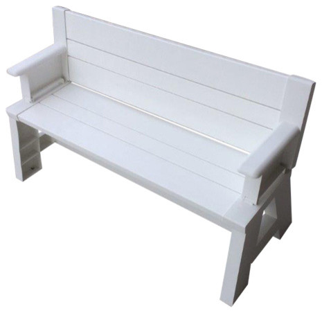 Shop houzz premiere products parque convertible picnic bench outdoor benches Convertible bench