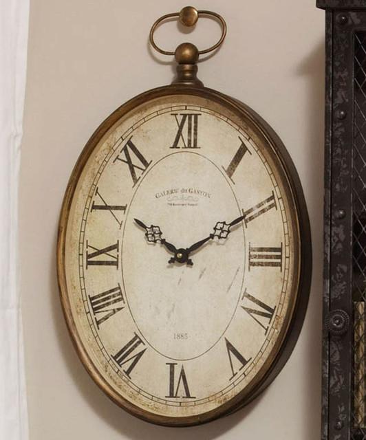 Vintage 20'' Oval Wall Clock