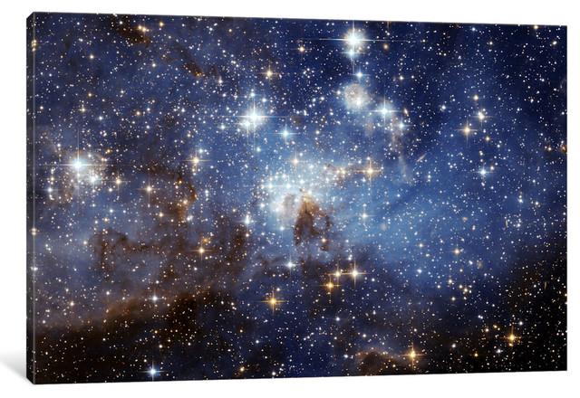 """""""Lh-95 Stellar Nursery"""" Wrapped Canvas Print, 18x12x.75"""