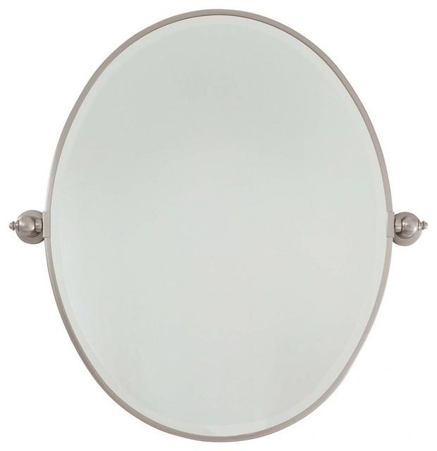 Minka Lavery Pivot Mirrors Large Oval Mirror Traditional