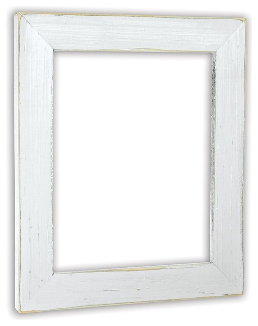 Vintage White Picture Frame, Solid Wood - Beach Style - Picture ...