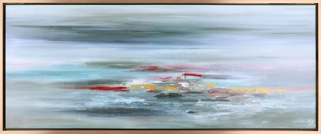 Sea Waves Ii Acrylic On Canvas Art Decor.