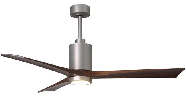 "Patricia 3 Blade Ceiling Fan, Brushed Nickel, 60""."