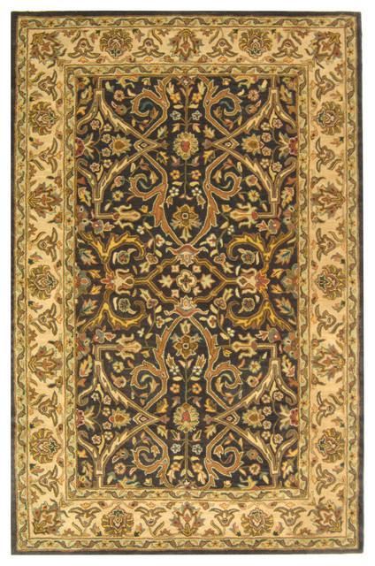 Halona Hand Tufted Rug, Charcoal/beige, 6&x27;x9&x27;.