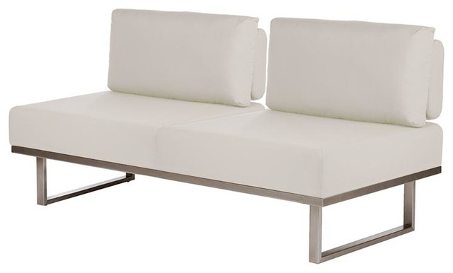 Barlow Tyrie   Mercury Couch Without Arms   Natural Modern Outdoor Sofas