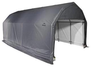 12'x24'x9' Barn Style Shelter, Gray