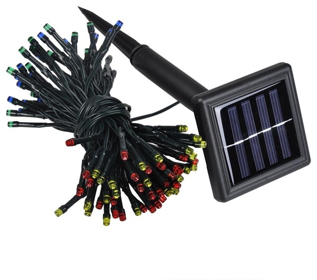 100-Led Solar String Fairy Light Waterproof, Set of 4, Rgby