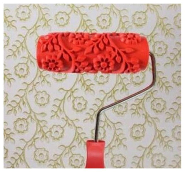 Embossed Paint Roller Wall Painting Runner Wall Decor Diy Tool, Pattern 31.
