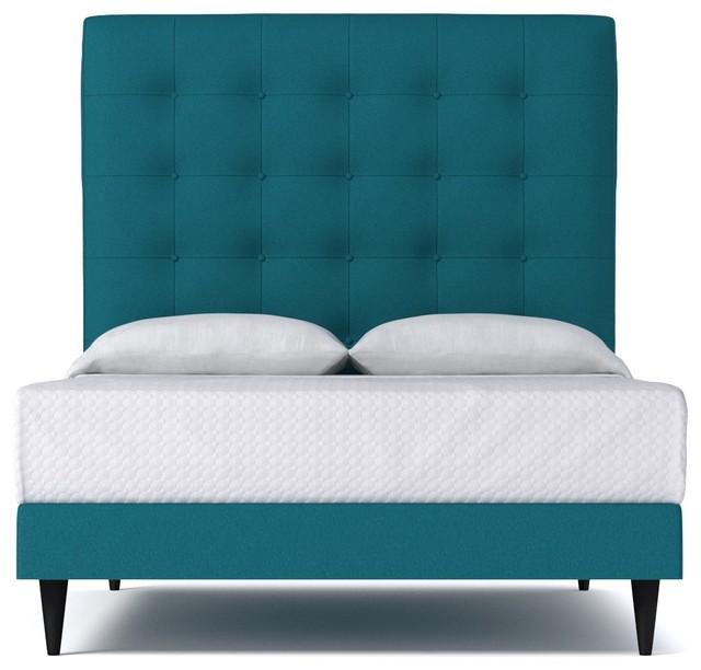 Palmer Upholstered Bed Biloxi Blue Queen