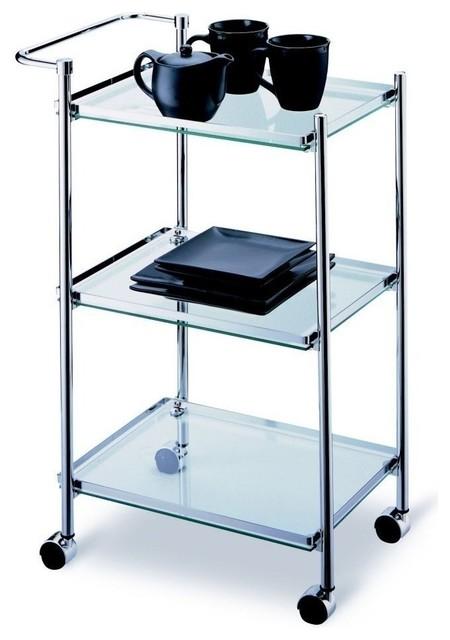 Rectangular Serving Cart Contemporary Bar Carts By