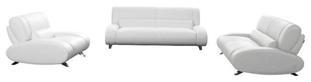 Surprising Aspen Microfiber Leather Sofa Set With Loveseat And Chair 3 Piece Set White Forskolin Free Trial Chair Design Images Forskolin Free Trialorg