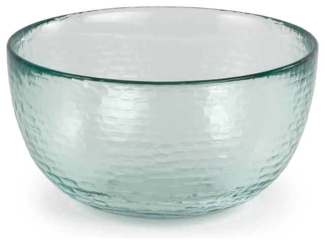 """Spanish 100% Recycled Glass Medium Incised Salsa Bowl, Set of 2, 5.25""""x2.75"""" - Contemporary ..."""