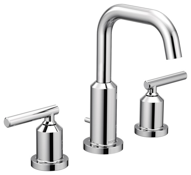 Moen Gibson Chrome 2 Handle Bathroom Faucet Contemporary