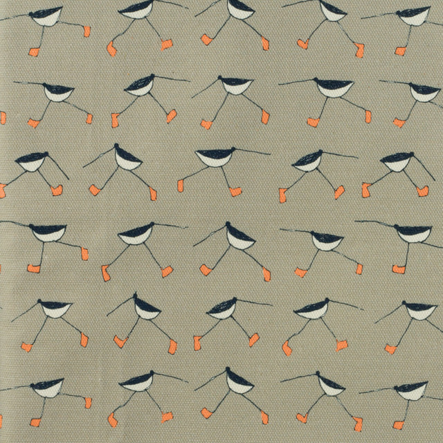 oyster catcher printed canvas fabric