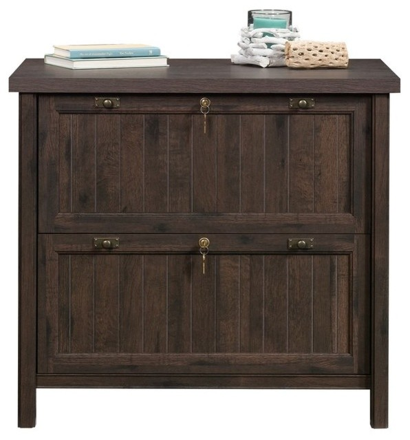 Wooden Filing Cabinet With 2 Drawer - Farmhouse - Filing ...