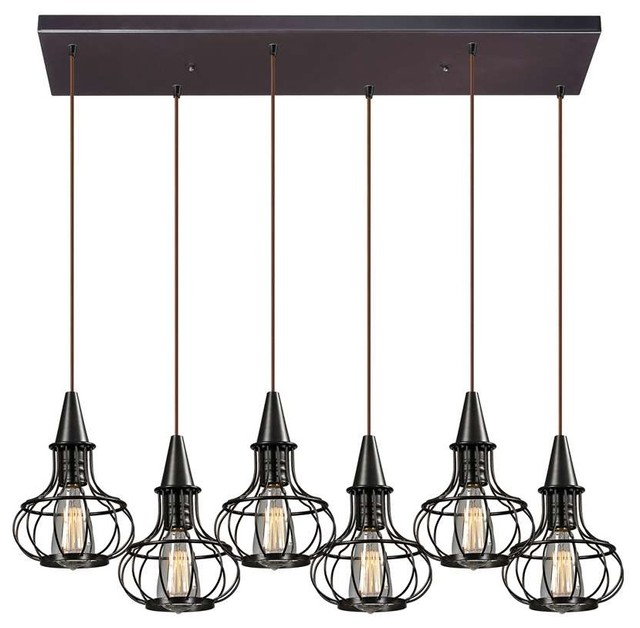 Elk Lighting Yardley: Yardley 6-Light Chandelier, Oil Rubbed Bronze