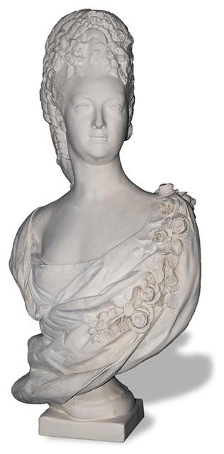 Marie Antoinette Bust Statue, Limestone