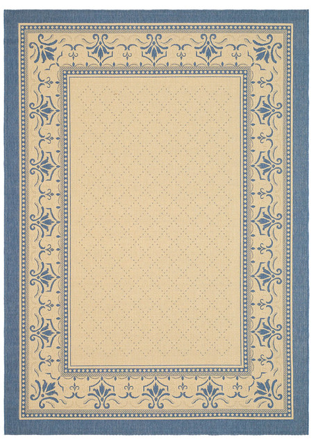 Safavieh Courtyard Cy0901 3101 Natural Blue Area Rug