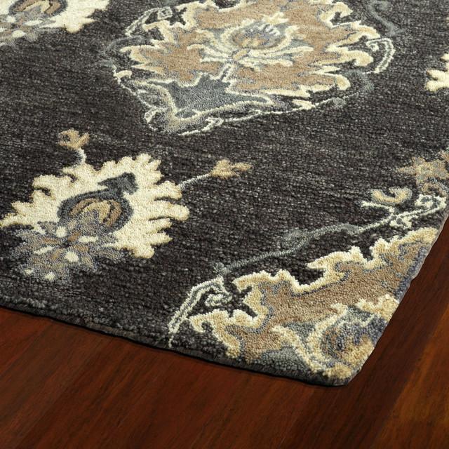 Alba Hand-Tufted Wool Rug, Charcoal, 8&x27;x11&x27;.