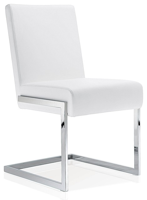 Phenomenal Modern Dining Chair White Leather Gmtry Best Dining Table And Chair Ideas Images Gmtryco